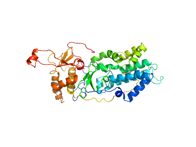 Relaxase (Tra_2) domain of TraI PHYRE2 model